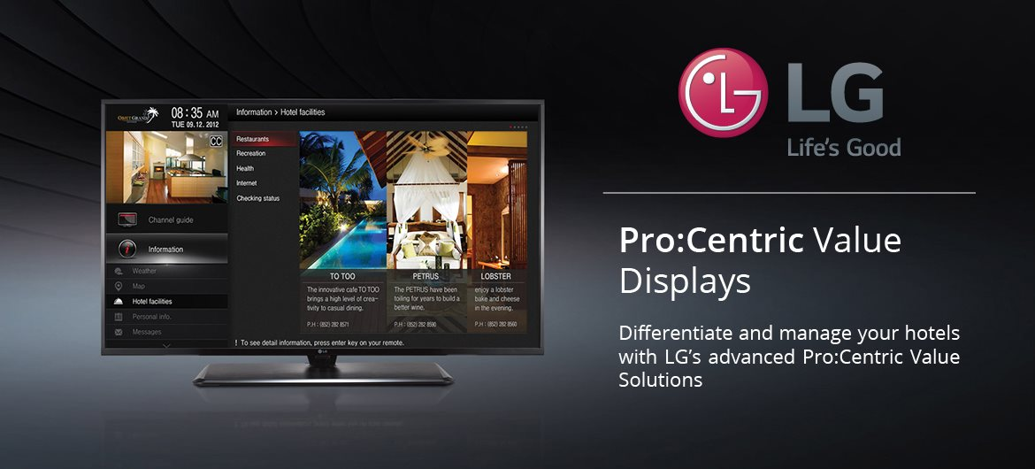 LG Pro:Centric Value Displays